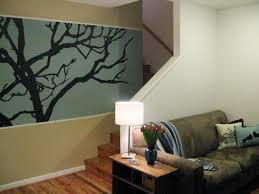 Wall Painting Patterns by 100 Half Day Designs Treetop Wall Mural Hgtv