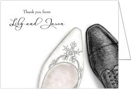 card from to groom and groom shoes wedding thank you cards storkie