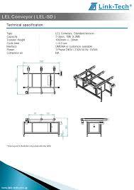 lel conveyor with ball transfer lift lel bl