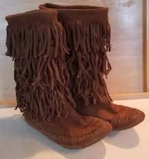 womens boots size 9 5 mudd womens boots size 9 5 fringe moccasin brown 3 layer suede ebay