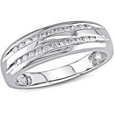 white gold wedding bands for miabella 1 6 carat t w row diamond 10kt white gold wedding