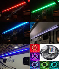Rgb Led Light Strips by Amazon Com Rv Awning Camper Recreational Vehicle Rgb Led Lights