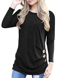 tunic blouse aliex s casual tunic top sleeve blouse t shirt button
