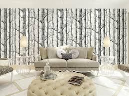 modern minimalist birch tree pattern waterproof wallpaper wall