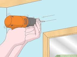 Installing Drapery Rods 3 Ways To Install Curtains Wikihow