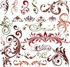 decorative designs vector decorative floral elements for