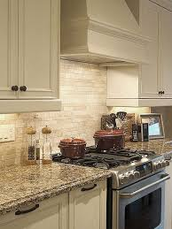 Travertine Tile For Backsplash In Kitchen - use mixed widths and lengths of subway tile to get a rock ledge
