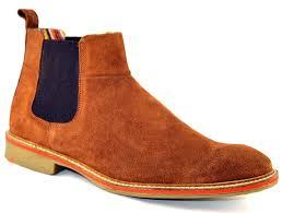 roamer mens leather suede dessert chelsea ankle slip on fashion