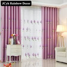 Lavender Window Curtains Lavender Embroidered Curtains For Living Room Rustic High Quality