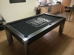fusion pool dining table customer chris h chose the stylish jack daniels pool dining table