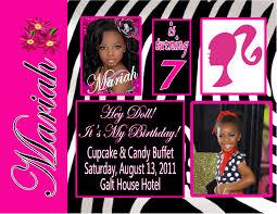 Barbie Birthday Invitation Cards Barbie Personalized Photo Birthday Invitations 1 29