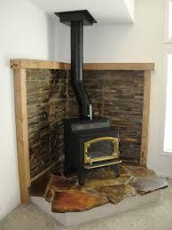 corner wood burning fireplace inside corner wood burning