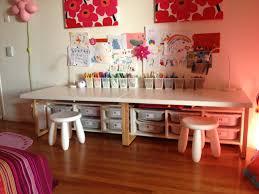 modern simple design ikea children table on the grey modern floor