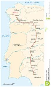 Andalucia Spain Map by Map Of The Way Of St James From Seville To Santiago De Compostela