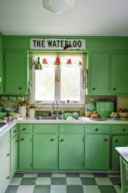 green cabinets in kitchen budget remodel bests transform your kitchen with paint