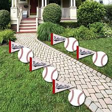 batter up baseball lawn decorations outdoor baby shower or