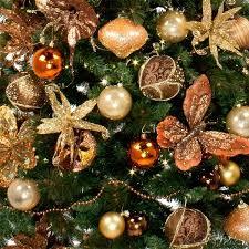 dazzling orange christmas tree decorations luxurious and splendid