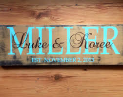 Personalized Home Decor Signs Family Name Signs Etsy