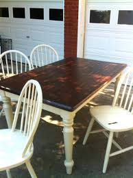 full image for refinishing dining table before and after dining
