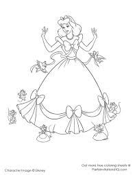free printable cinderella coloring pages for kids in coloring