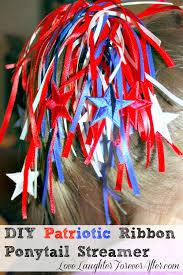 ribbon streamers diy patriotic ribbon ponytail streamers