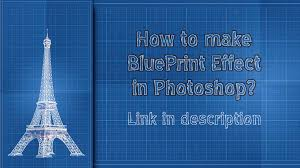 make a blueprint tutorial how to make blueprint effect in ps by elyssafawn on