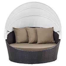 convene canopy outdoor patio daybed espresso mocha modway target