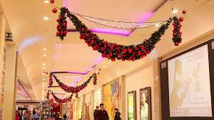 beautiful tree buying in shopping mall centre