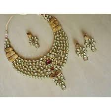 indian bridal necklace sets images Indian bridal jewellery set 22k gold plated handmade teena 39 s jpg