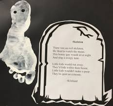 Kids Halloween Poem A Full Classroom Ghost Print Poetry