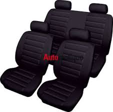 housse siege seat ibiza seat ibiza 1 0 e 3d 2016 look cuir housse de siège set ebay