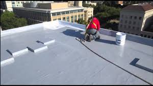 Surecoat Roof Coating by Garland Restoration Application For Modified Bitumen Roof Systems