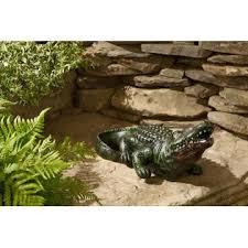 decorative alligator statuary limited availability outdoor
