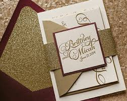 wedding invitations gold glitter glam rustic wedding invitations by flairnecessities