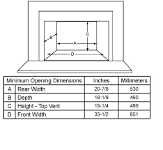 Fireplace Insert Dimensions by 2700i Wood Burning Fireplace Insert Quadra Fire