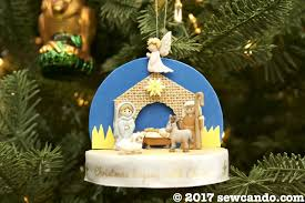 sew can do 3 d nativity ornaments tutorial