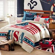 Comforter Manufacturers Usa Usa Star Stripe Cotton Queen Home Textile Comforter Bedding Sets 4