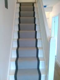 smart stair runner with thick black whipped edges karndean van
