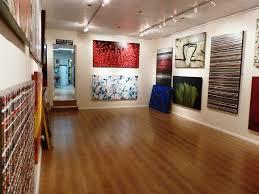 home art gallery design interior home art studio design with unique red chairs creative