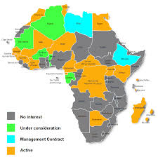 Map Of Africa With Capitals by France Telecom Orange Major African Mobile Markets Future Growth