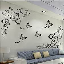 Home Decoration Wall Stickers Amazon Com Flower Decals For Nursery Living Room Bedroom Girls