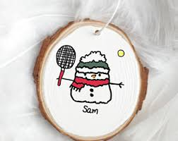 tennis ornament etsy