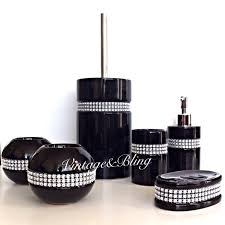 Brown And White Bathroom Accessories Black Ceramic Bathroom Accessories Rubber Coated Black Bath