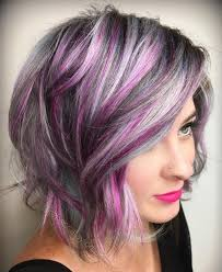 salt and pepper hair with lilac tips 86 best purple lowlights for grey hair images on pinterest
