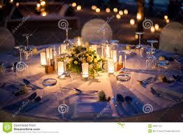 Wedding Table Set Up Wedding Table Setup Outdoor Stock Photo Image 48697754