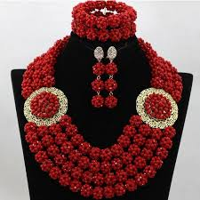 red crystal bead necklace images Amazing red crystal beads balls african jewelry sets traditional jpg