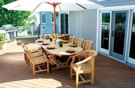 Patio Umbrellas San Diego Outdoor Unfinished Teak Patio Furniture Set Including Long