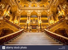 paris opera house chandelier ornate entrance to palais garnier opera house paris france
