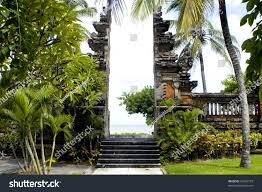 gate indian ocean old architecture bali stock photo 34292773