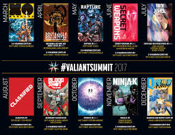 valiantsummit 2017 valiant unveils a staggering line up of new